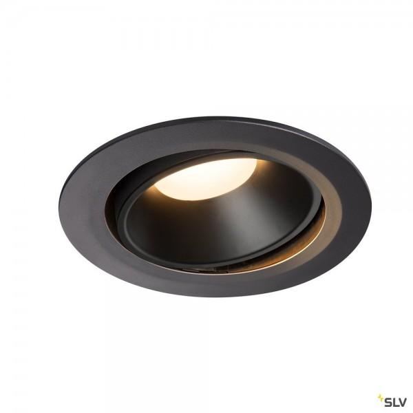 SLV 1003721 Numinos Move XL, Deckeneinbauleuchte, schwarz, LED, 37,4W, 3000K, 3300lm, 20°