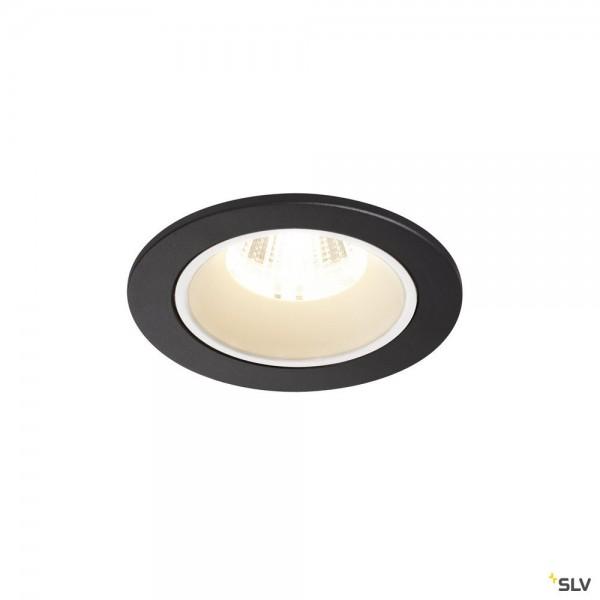 SLV 1003818 Numinos S, Deckeneinbauleuchte, schwarz/weiß, LED, 8,6W, 4000K, 790lm, 20°