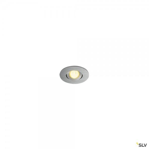SLV 113976 New Tria Mini Set, Deckeneinbauleuchte, alu gebürstet, IP44, LED, 4,4W, 3000K, 143lm
