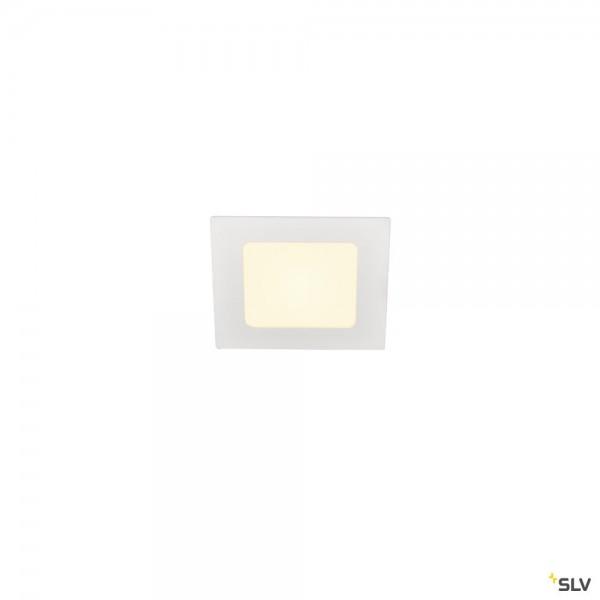 SLV 1003011 Senser 12, Deckeneinbauleuchte, weiß, LED, 6W, 3000K, 440lm
