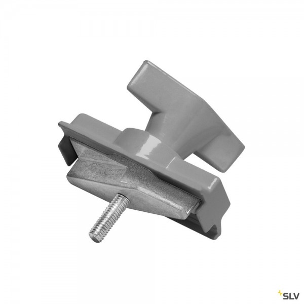 SLV 175214 3Phasen, S-Track, Aufbauschiene, Mechanischer Adapter, silbergrau