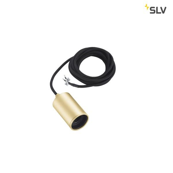 SLV 1002167 Fitu, Pendelleuchte, gold, ohne Rosette, 250cm, E27, max.60W