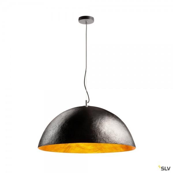 SLV 1001701 Forchini 70, Pendelleuchte, schwarz/gold, E27, max.40W