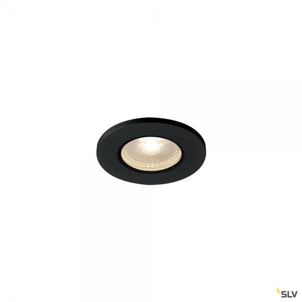 SLV 1001015 Kamuela, Deckeneinbauleuchte, schwarz, IP65, dimmbar L, LED, 6,5W, 3000K, 400lm