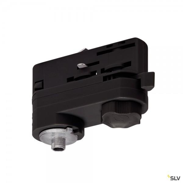 SLV 175200 3Phasen, S-Track, Aufbauschiene, Leuchtenadapter, schwarz