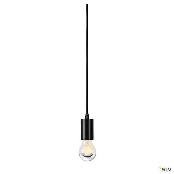 SLV 132690 Fitu, Pendelabhängung, 500cm, schwarz, ohne Rosette, E27, max.60W