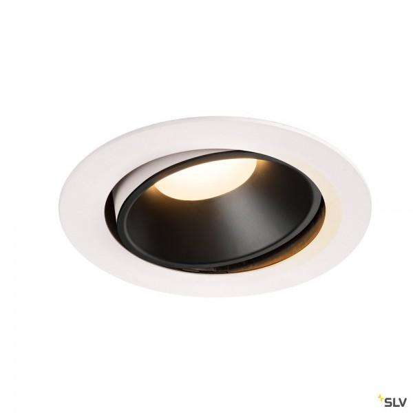 SLV 1003736 Numinos Move XL, Deckeneinbauleuchte, weiß/schwarz, LED, 37,4W, 3000K, 3300lm, 40°
