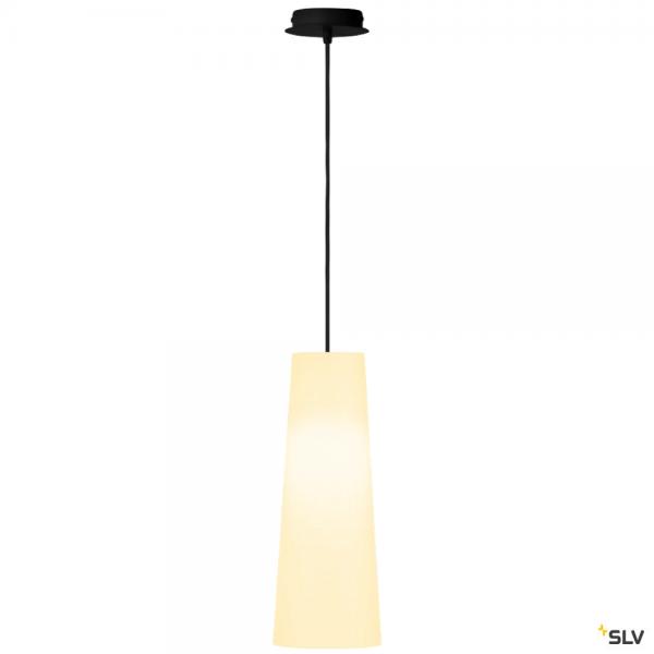 SLV 155560 + 156201 Fenda, Pendelleuchte, schwarz/weiß, Ø15cm, E27, max.60W