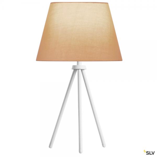 SLV 1003032 + 156163 Fenda, Tischleuchte, weiß/beige, Ø30cm, E27, max.40W