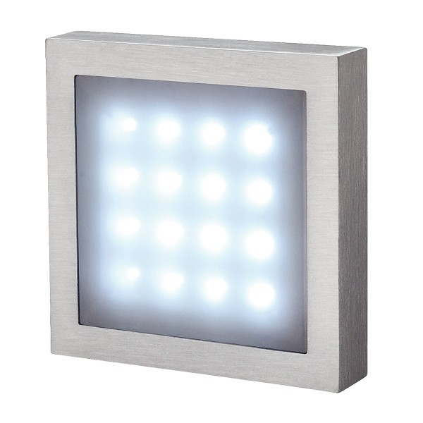 SLV 230251 Aites 16, Wand- und Deckenleuchte, alu gebürstet, IP23, LED, 1,5W