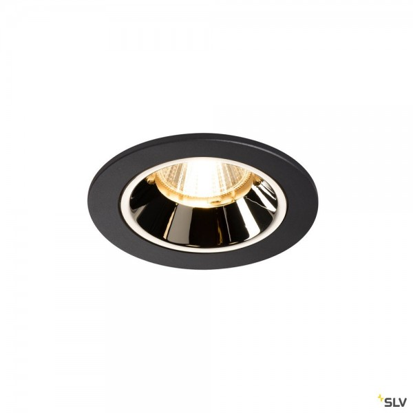 SLV 1003801 Numinos S, Deckeneinbauleuchte, schwarz/chrom, LED, 8,6W, 3000K, 700lm, 55°