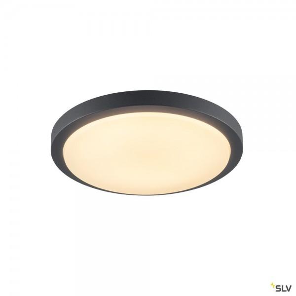 SLV 229965 Ainos, Wand- und Deckenleuchte, anthrazit, IP44, LED, 18W, 3000K, 1430lm