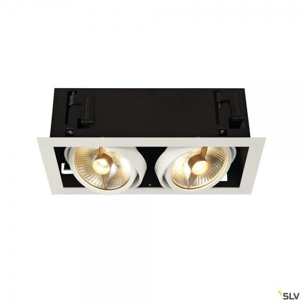 SLV 115551 Kadux 2, Deckeneinbauleuchte, weiß matt, QPAR111, GU10, max.2x75W