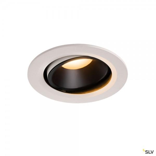 SLV 1003640 Numinos Move L, Deckeneinbauleuchte, weiß/schwarz, LED, 25,41W, 2700K, 2150lm, 40°