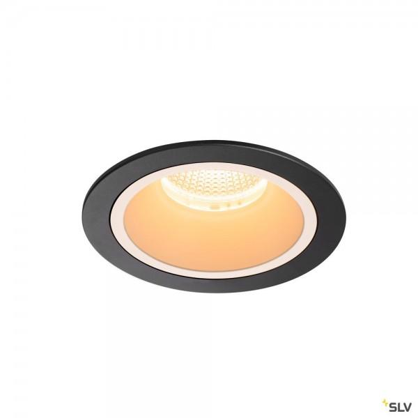 SLV 1003914 Numinos L, Deckeneinbauleuchte, schwarz, LED, 25,41W, 2700K, 2250lm, 20°