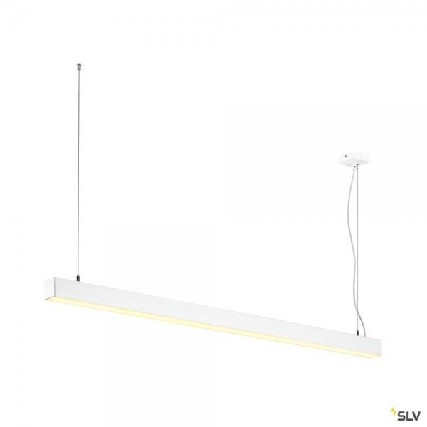 SLV 1001310 Q-Line, Pendelleuchte, weiß, dimmbar Dali+ Switch, LED, 47W, 3000K, 3700lm