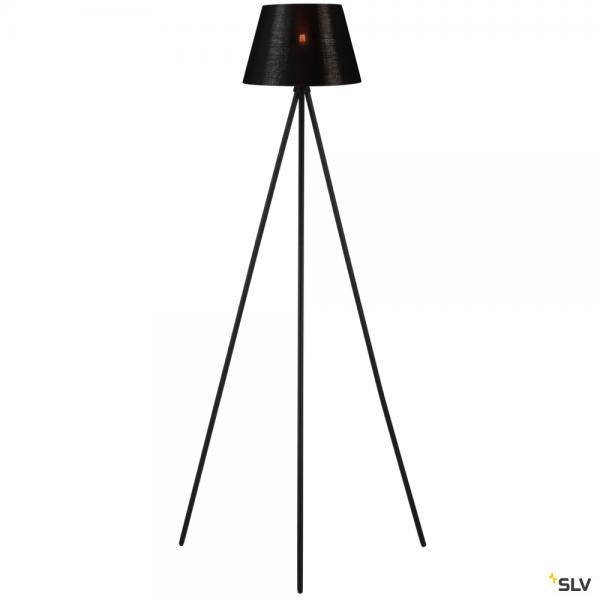 SLV 155490 + 156172 Fenda, Stehleuchte, schwarz/kupfer, Ø30cm, E27, max.40W