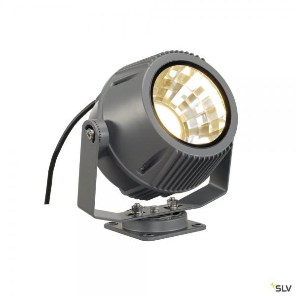 SLV 231072 Flac Beam, Strahler, steingrau, mit Netzstecker, IP65, LED, 27W, 3000K, 1800lm