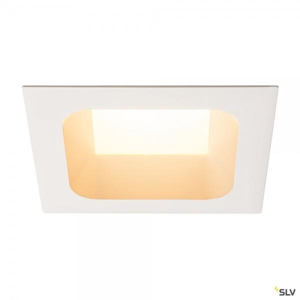 SLV 112702 Verlux, Deckeneinbauleuchte, weiß matt, dimmbar C, LED, 31W, 3000K, 2360lm