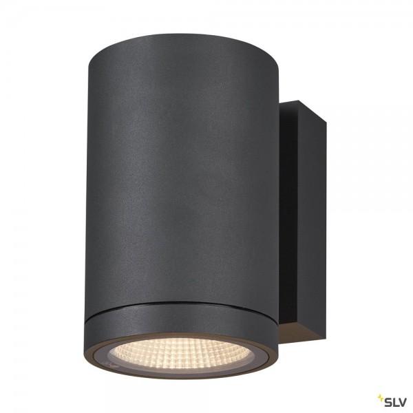 SLV 1003423 Enola Round M, Wandleuchte, anthrazit, IP65, LED, 10W, 3000K/4000K, 820lm